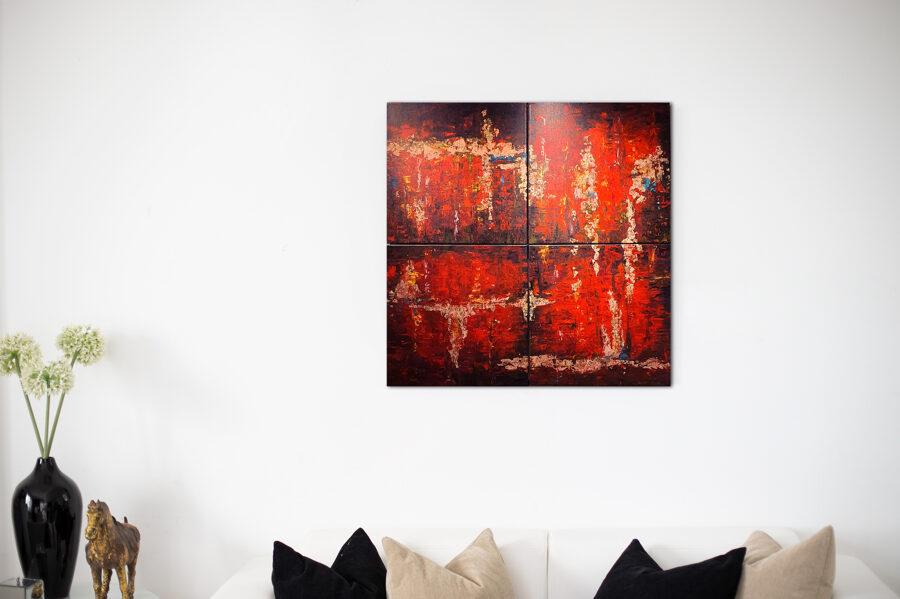 Agadé lángjai (quadrichon) - 4x40x40 cm