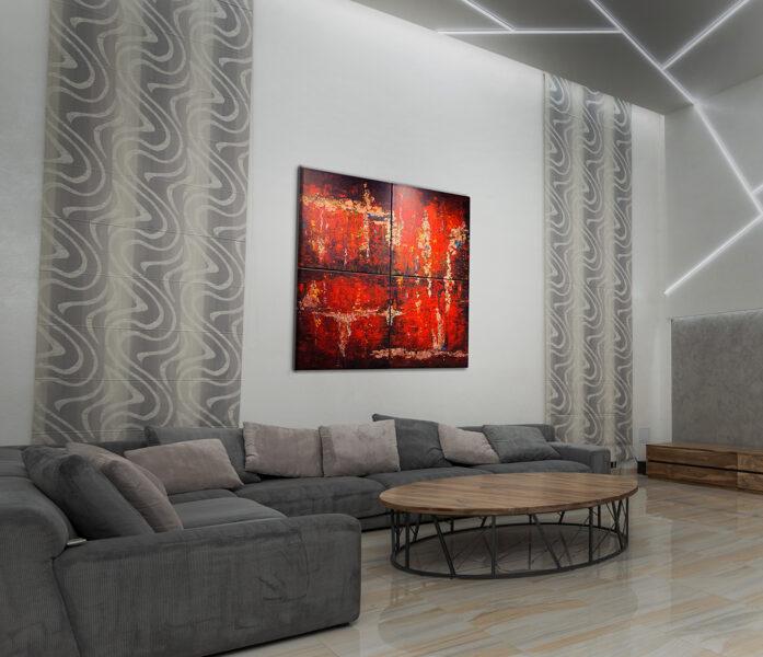 Agadé lángjai (quadrichon) 4x50x50 cm