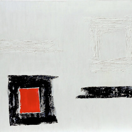 Kontrasztok - 80x90 cm, olaj vásznon