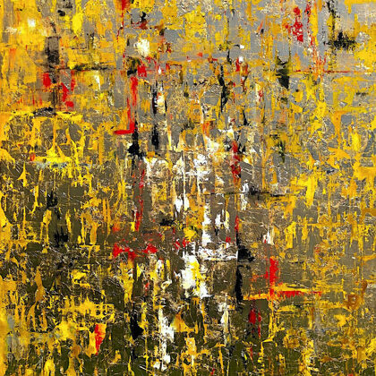 Babilónia aranya - 140x90 cm, olaj és arany vásznon