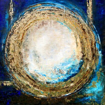 A hetedik nap - 140x140 cm, olaj arany vászon, Ószövetség ciklus
