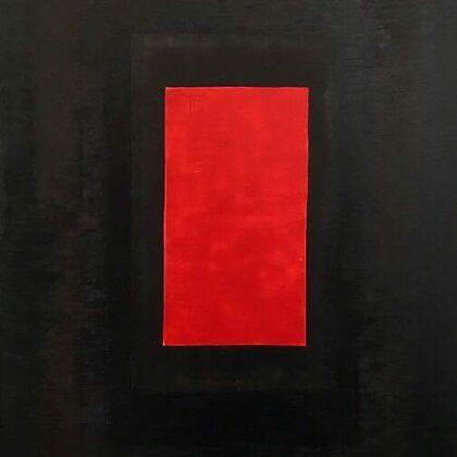 Az ajtó - 150x100 cm, olaj vásznon