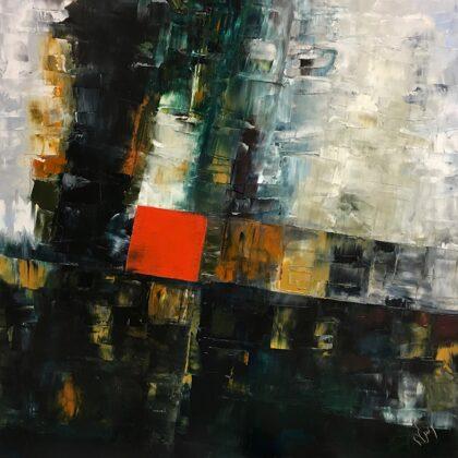 Keresztút - 60x60 cm, olaj vásznon