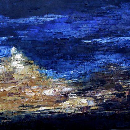 Nyár Lhasában - 50x70 cm, olaj vásznon