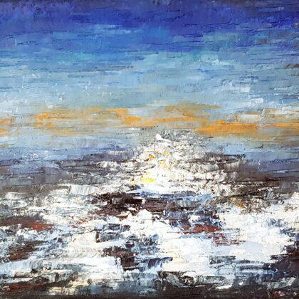 Lhásza kolostorai (2011) - 45x70 cm, olaj vásznon