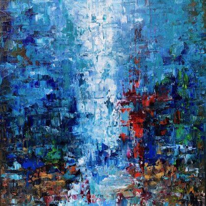 Awakening - 80x60 cm, oil gold canvas