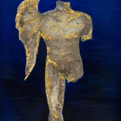Morpheus - 120x100 cm, oil gold canvas