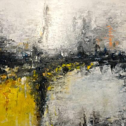 Glacier - 100x150 cm, oil canvas