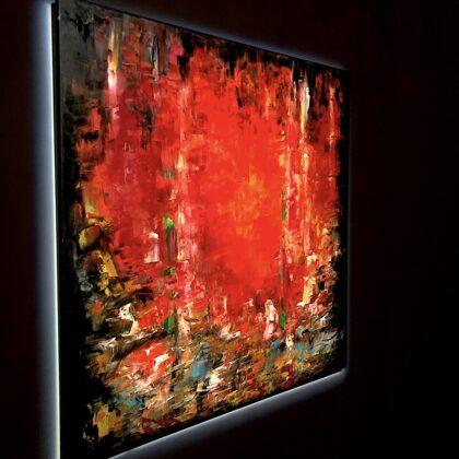 Love - 100x120 cm - oil gold