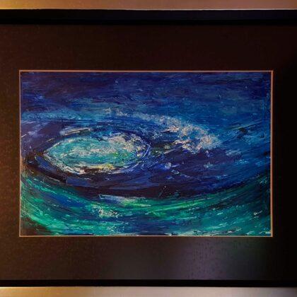 Vortex-study - 20x28 cm, oil paper
