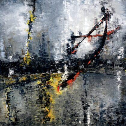 Scarlet letter - 140x160 cm, oil canvas