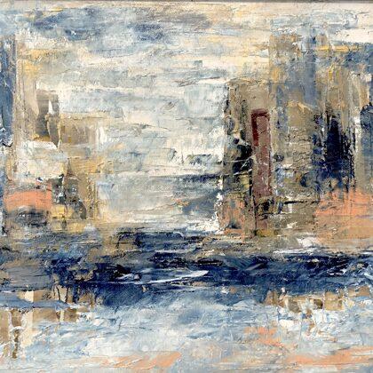 Towers IV. - 30x40 cm, oil canvas