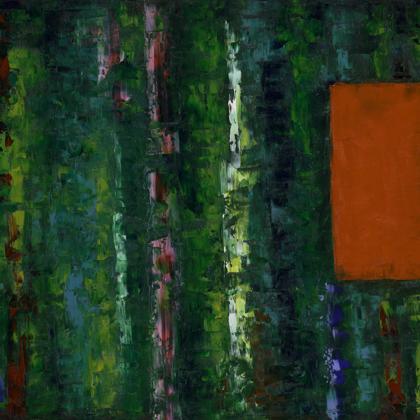 Esőerdő-tanulmány - 60x120 cm, olaj vásznon