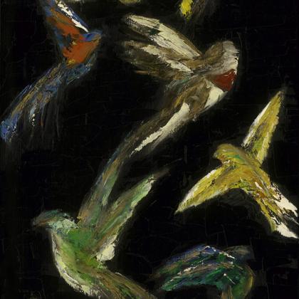 Coromandels black (2008) - 70x45 cm, oil canvas