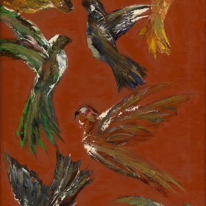 Coromandels red (2008) - 70x45 cm, oil canvas
