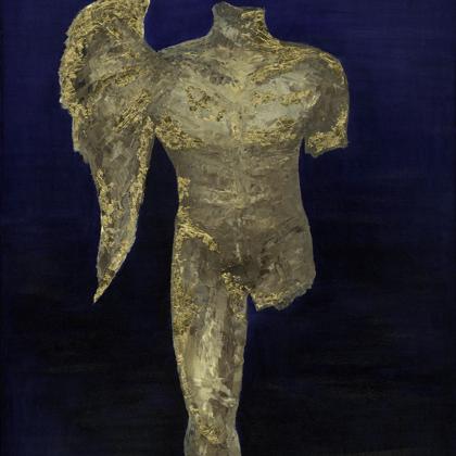 Morpheus (2004) - 120x100 cm, oil gold canvas