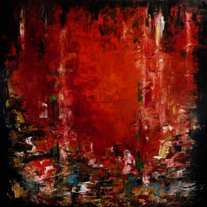 Szerelem - 120x120 cm, olaj vásznon