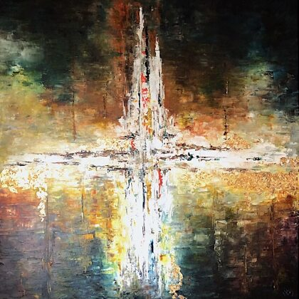 Az idő eleje (Ószövetség ciklus) - 120x120 cm, olaj és arany vásznon