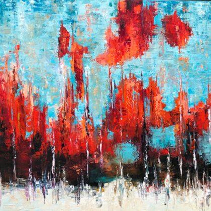 Az örökké története - 100x100 cm, olaj vásznon