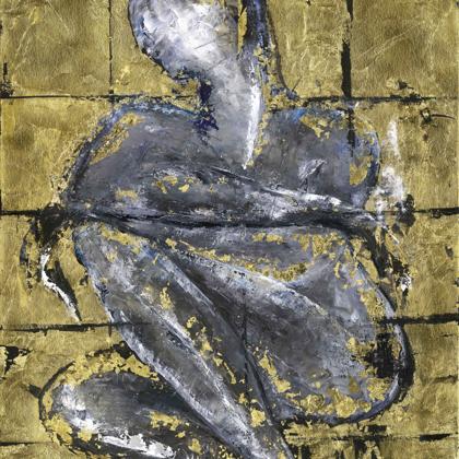Madonna - 100x65 cm, olaj és arany vásznon