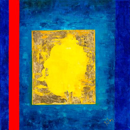 Napkapu 2.0 - 60x60 cm, olaj és arany vásznon