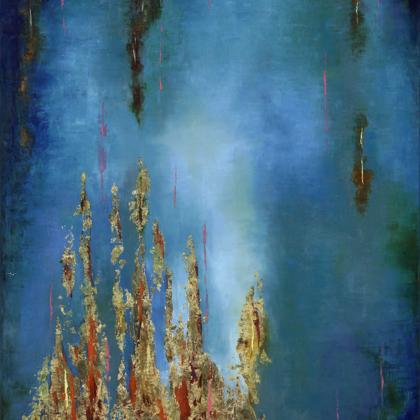 Teremtés (Ószövetség ciklus) - 140x100 cm, olaj és arany vásznon