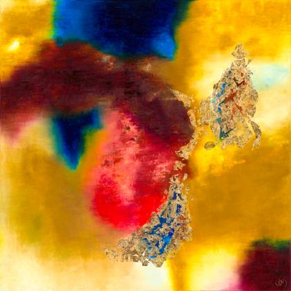 Termékeny félhold - 120x120 cm, olaj és arany vásznon