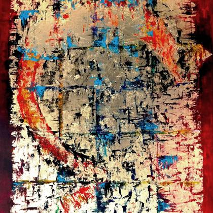 A kezdet vége - 110x70 cm, olaj és arany vásznon