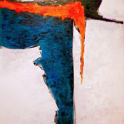Hazatérés - 145x75 cm, olaj vásznon