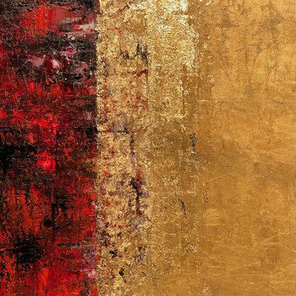 Az igazság - 100x80 cm, olaj és arany vásznon