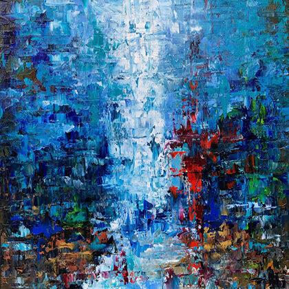 Ébredés - 80x60 cm, olaj és arany vásznon
