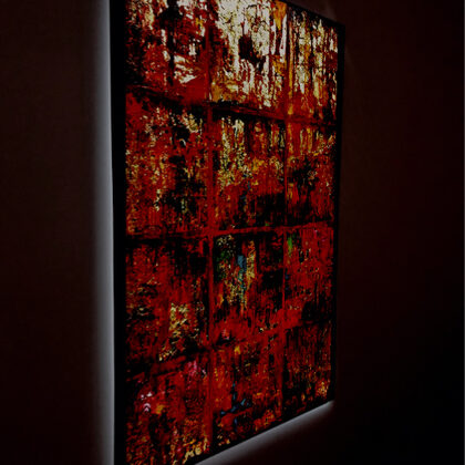 A vágy - 70x50 cm, olaj és arany vásznon