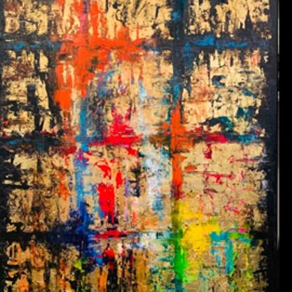 Ikon - 70x50 cm, olaj arany vásznon