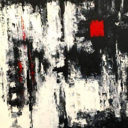 A pillanat - 140x160 cm, olaj vásznon