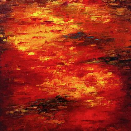 Láva - 100x70 cm, olaj vásznon