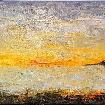 Capri-tanulmány - 25x68 cm, olaj vásznon