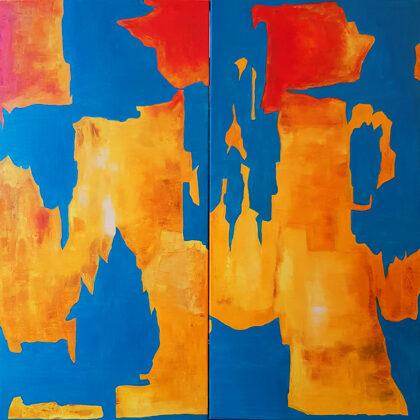 Costa Dorada - diptichon - 2x100x50 cm