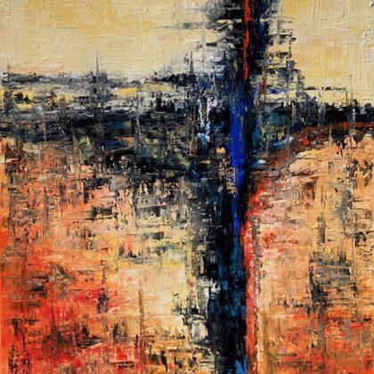 The secret- 100x80 cm, oil gold canvas
