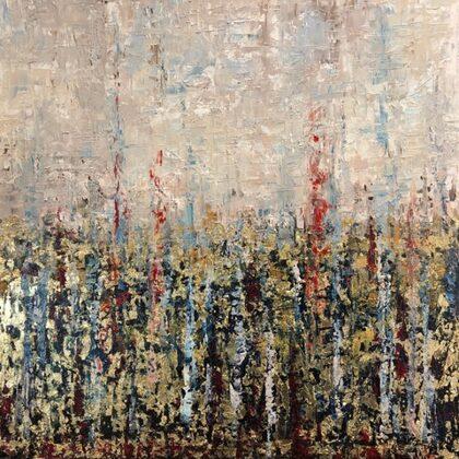 Azimut - 80x80 cm, oil gold canvas