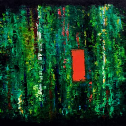 Rainforest - 140x160 cm, oil canvas