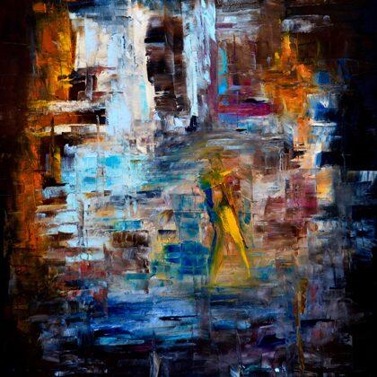 The violinist - 80x60 cm, oil canvas