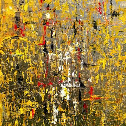 Babylon's gold - 140x90 cm, oil gold canvas