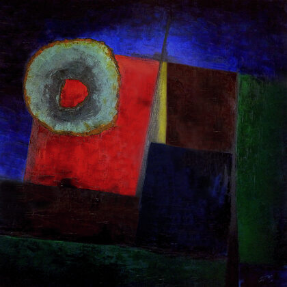 Timewheel - 100x100 cm, oil canvas
