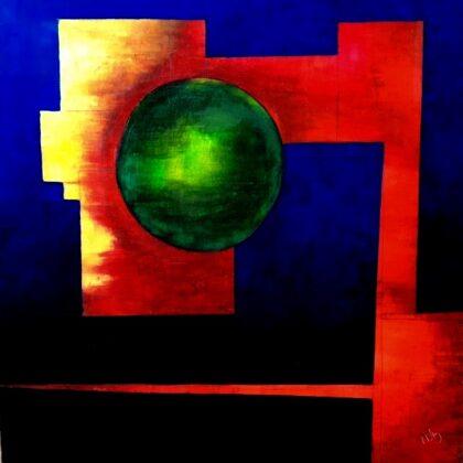 Hope - 80x80 cm, oil canvas