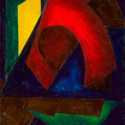 Gate - 80x60 cm, oil canvas