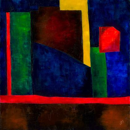 Firewalls - 70x70 cm, oil canvas