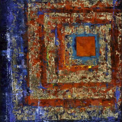 Cyber Karma - 100x70 cm, oil gold canvas