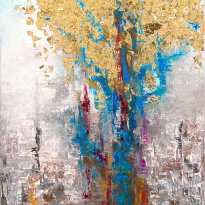 Tiberis - 100x65 cm, oil gold canvas