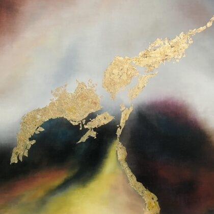 Marduk - 100x120 cm, oil gold canvas