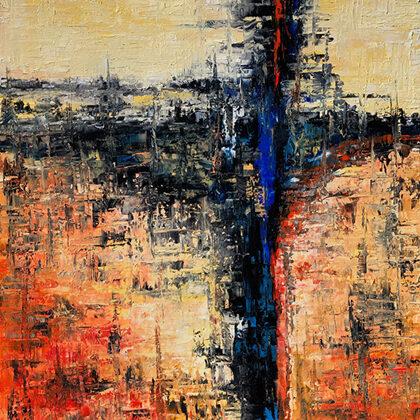 The secret - 100x80 cm, oil gold canvas